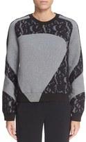 Carven Lace Appliqué Sweatshirt
