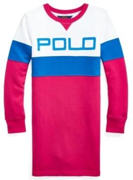 Polo Ralph Lauren Big Girls Logo Fleece T-shirt Dress