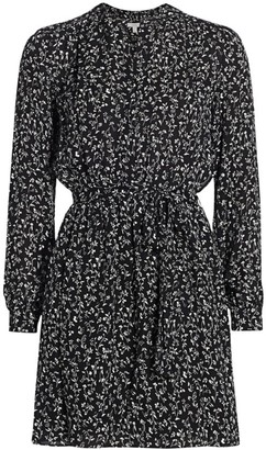 Joie Leonore Tie-Waist Silk Shirtdress