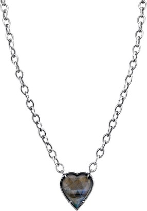 Sheryl Lowe Labradorite Heart Pendant Necklace