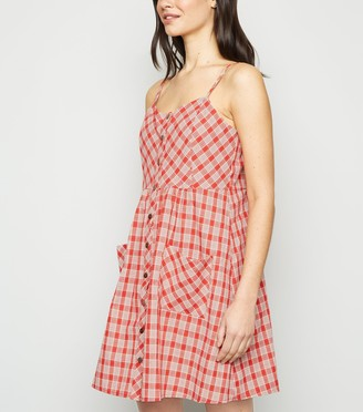New Look Blue Vanilla Check Cami Dress