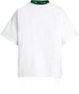 Longjourney Baggy raw-edged cotton T-shirt