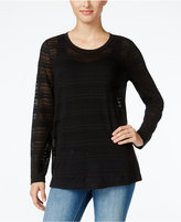 Style&Co. Style & Co. Illusion-Striped Top, Only at Macy's