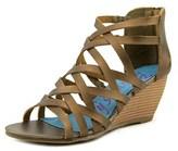 Blowfish Blip Women Open Toe Synthetic Bronze Wedge Sandal.