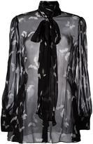 Alexander McQueen moth print blouse - women - Silk - 40