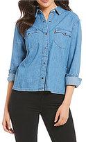 Levi's s Denim Western Long Sleeve Button-Down Shirt
