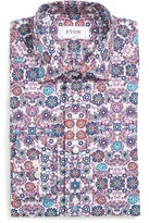Eton Men's Slim Fit Flower Print Dress Shirt