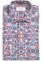 Eton Slim Fit Flower Print Dress Shirt