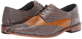Stacy Adams Fabriano Cap Toe Oxford (Gray/Tan) Men's Shoes