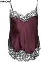 Givenchy two-tone lace trim camisole