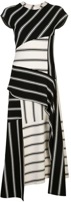 Monse Patchwork Striped Jersey Dress