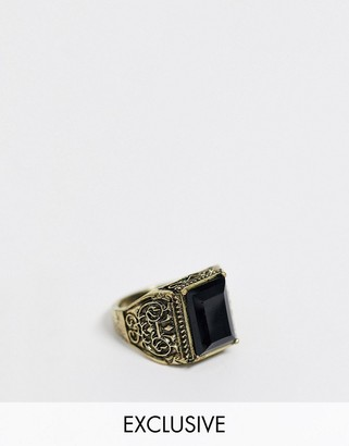 Reclaimed Vintage inspired stone detail ring exclusive to ASOS