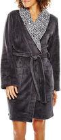Asstd National Brand Comfort and Co. Long-Sleeve Short Fleece Robe