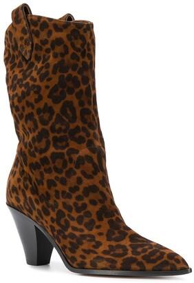 Aquazzura Animal Print Western-Inspired Boots