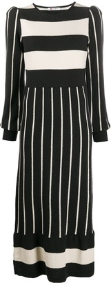 Ports 1961 Striped Knitted Dress
