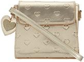 Accessorize Embossed Heart Mini Satchel Bag