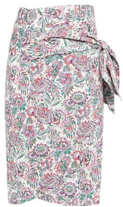 Vanessa Bruno Lesley Floral-print Cotton-poplin Wrap Skirt