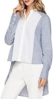 BCBGMAXAZRIA Bib Front Stripe Shirt