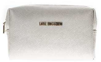 Love Moschino White Faux Leather Zipped Purse
