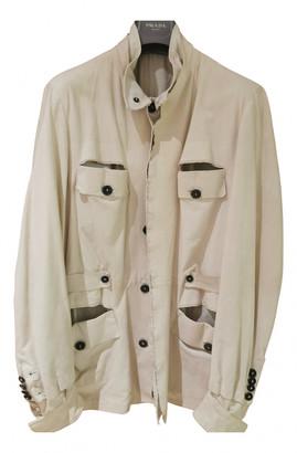 Saint Laurent Ecru Leather Jackets