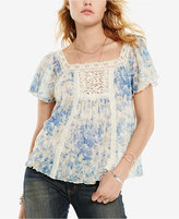 Denim & Supply Ralph Lauren Floral-Print Boho Shirt