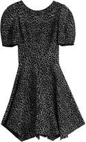 Alaia Animal Print Dress with Wool