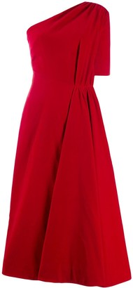 Emilia Wickstead Jenna one shoulder midi dress