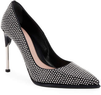 Alexander McQueen Leather Studded Pointed Pumps