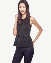 Ann Taylor Double Faced Peplum Top