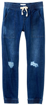 Hudson Distressed Denim Jogger Pants (Big Girls)