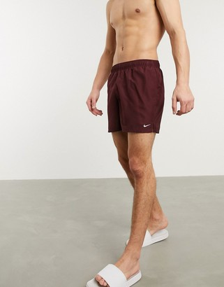 Nike Swimming 5inch Volley shorts in burgundy