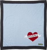 Amber Hagen Heart Mommy Blanket-BLUE
