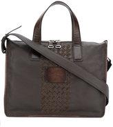 Santoni textured laptop bag