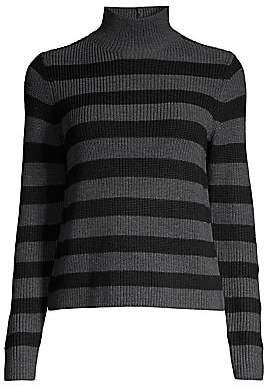 Eileen Fisher Women's Striped Mockneck Wool Sweater