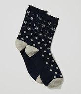 LOFT Floral Dot Crew Socks