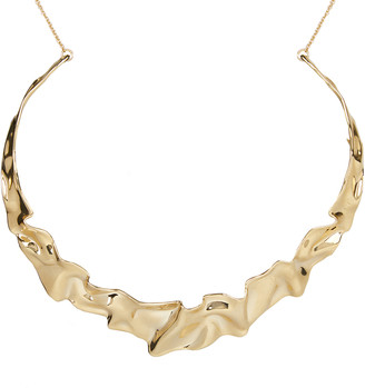 Alexis Bittar Crumpled Metal Collar Necklace