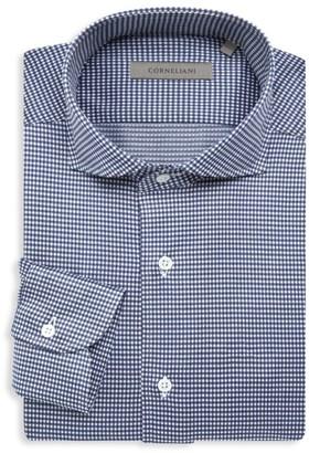 Corneliani Jersey Check Dress Shirt