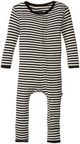 Kickee Pants Print Fitted Coverall (Baby) - Midnight/Stripe - 12-18 Months
