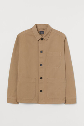 H&M Regular Fit Shirt Jacket - Beige