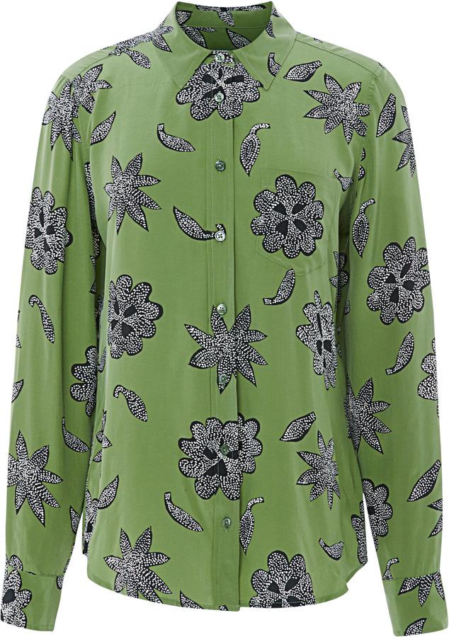 Equipment Brett Safari Floral Silk Shirt