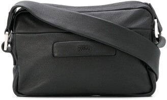 Ermenegildo Zegna FEAROFGODZEGNA logo-patch pebbled messenger bag