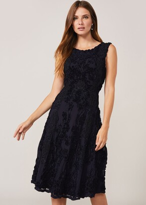 Phase Eight Penelope Tapework Lace Fit And Flare Dress