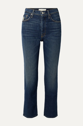 Mother The Tomcat Ankle High-rise Straight-leg Jeans - Dark denim
