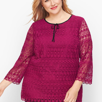 Talbots Detailed Lace Top