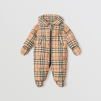 Burberry Childrens Vintage Check Down-filled Puffer Suit