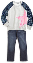Flowers by Zoe Toddler's & Little Girl's Sequin Sleeve Star Top