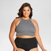 Beach Betty by Miracle Brands Women's Plus Size Shirley High Neck Top - Beach Betty (Juniors')