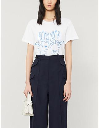 Sandro Maine print cotton-jersey T-shirt