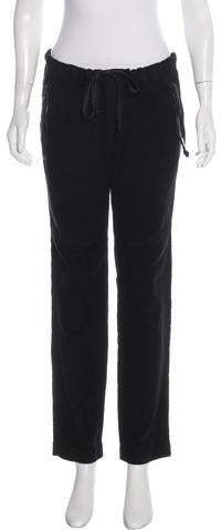 Greg Lauren Mid-Rise Straight-Leg Pants
