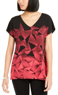 Alfani Geo-Print Tunic, Created for Macy's